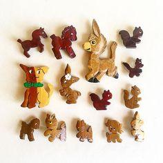 Cuties. #woodnoveltybrooch #thingsforsurpriseballs