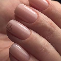 The advantage of the gel is that it allows you to enjoy your French manicure for a long time. There are four different ways to make a French manicure on gel nails. Nude Nails, Pink Nails, My Nails, Heart Nails, Yellow Nails, Stylish Nails, Trendy Nails, Perfect Nails, Gorgeous Nails