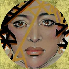 Crowned. Acrílico y pan de oro sobre madera / Acrylic and gold leaf on wood. 30 x 30 x 1 cm. 2007.