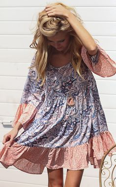 paisley baby tier dress