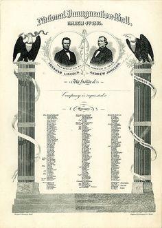 President Lincoln's Inaugural Ball Invitation, 1865 via @National Museum of American History, Smithsonian