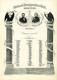 President Lincoln's Inaugural Ball Invitation, 1865 via @Evelyn Spencer Museum of American History, Smithsonian