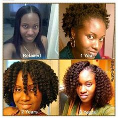 Natural hair growth.