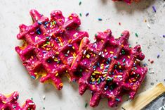 Your basic, everyday waffle just got a facelift... well some sprinkles anyway ;) This recipe from HonestlyYum combined two things we loved, doughnuts and waffles, so we decided to put a FlapJacked spin on this super cool concept.