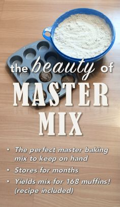 This master baking mix recipe is a wonderful way to save both time and money! Stores for months! Freezer Cooking, Cooking Recipes, Frugal Recipes, Freezer Recipes, Cooking Hacks, Family Recipes, Easy Cooking, Cooking Ideas, Family Meals