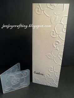 Great technique for small embossing folders - must try this