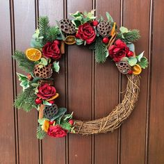 Christmas Decorations | Small Business Products | #WeBuySmall Gift Guides Christmas Wreaths For Front Door, Christmas Decorations, Beautiful Christmas, Red Christmas, Beautiful Red Roses, Outdoor Wreaths, Wreath Hanger, Christmas Traditions, Grapevine Wreath
