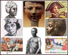 Warrior Mothers/Queens of Afrika! Queen Nanny Hatshepsut  Sanite Belair Queen Nzingha Queen Nehanda Queen Tiye Queen Amina  Cleopatra