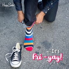 Are you wearing your Friday socks? #HappySocks