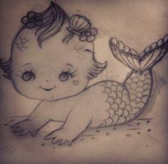 Kewpie mermaid