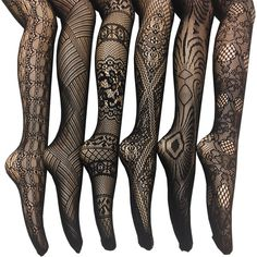 Women's Fishnet Lace Stocking Tights ($23) ❤ liked on Polyvore featuring intimates, hosiery, tights, stockings, legs, accessories, black, lace hosiery, fishnet hosiery and lace stockings
