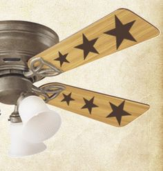 Ceiling Fan Stars   Wall Decals - Trading Phrases