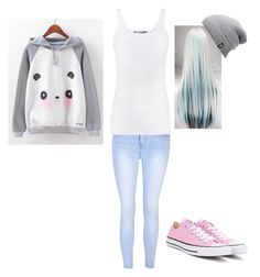 """""""Untitled #9"""" by raine-mcwaters ❤ liked on Polyvore featuring Glamorous, Vince, Converse and The North Face"""