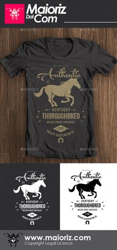 #Authentic Vintage #Tshirt V2 - Clean #Designs Download here: https://graphicriver.net/item/authentic-vintage-tshirt-v2/8847789?ref=alena994