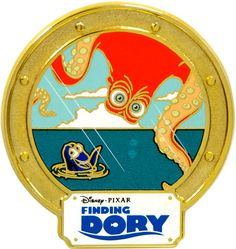 Pin 118625 Disney Movie Rewards - Finding Dory - Hank and Dory Disney Films, Disney Pixar, Disney Movie Rewards Codes, Finding Dory, Monsters Inc, Feature Film, Toy Story, Short Film, Geek Stuff