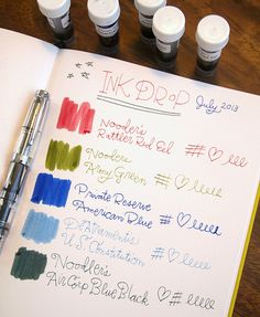 "Ink Drop Reveal: July 2013This month's Ink Dropselection from Goulet Pens is themed ""America"" in honor of the Fourth of…View Post"