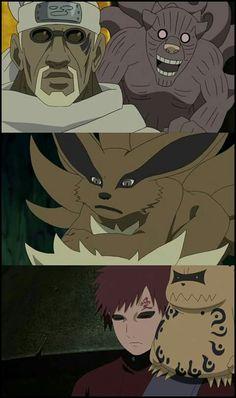 Gyuki, Kurama y Shukaku
