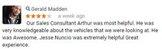Thanks Gerald!  #CustomerService #AllenSamuelsChryslerDodgeJeepRam