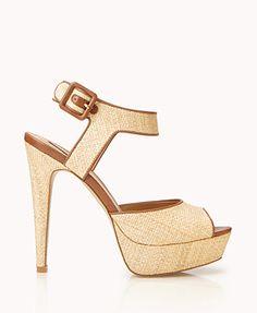 Raffia Platform Sandals | FOREVER 21 - 2048452995