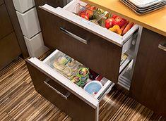 Integrated Refrigerator/Freezer Drawers 2