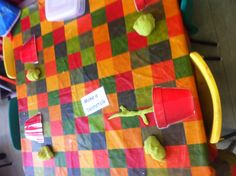 Jack and the beanstalk play dough. Encourages rolling.