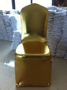 Mitalic gold chair cover