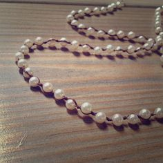 BUY NOW! For sale in my poshmark boutique. Knotted pearl necklace.