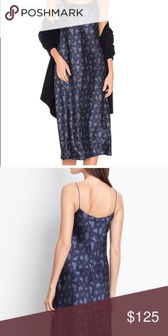 Brand new Vince silk dress Brand new, 100% silk dress by Vince. Beautiful floral pattern in size XS. Vince Dresses Midi