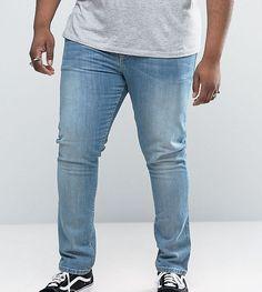 ASOS PLUS Super Skinny Jeans In Light Wash - Blue
