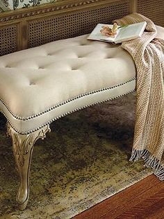 Branson Button Tufted Bench - Frontgate
