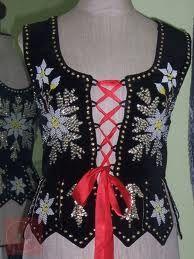 Goralskie Gorset - Polish Highlander Corset (traditional) Polska Kielbasa, Polish People, Polish Folk Art, Fashion Sewing, Vests, Beading, Culture, Costumes, Celebrities
