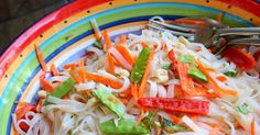 Asian Rice Noodle Salad (Gluten and Dairy Free)
