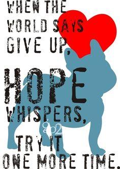 Never loosing hope