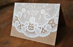 A Diamond in the Stuff: DIY Paper Doily Invitations Doily Invitations, Vow Renewal Invitations, Lace Wedding Invitations, Invites, Wedding Cards, Paper Lace Doilies, Doilies Crafts, Fun Arts And Crafts, Diy Papier