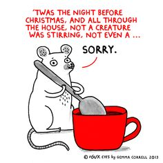 "Some Christmassy Gemma Correll :-D...""Not even a...oh, wait...."""