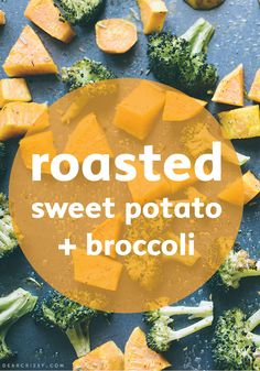 No time? Roasted sweet potatoes and broccoli is here to save dinner!