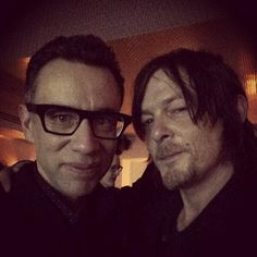 Fred Armisen & Norman  #NYC 2/27/14 .. apparently Norman hugged him like 12 times..