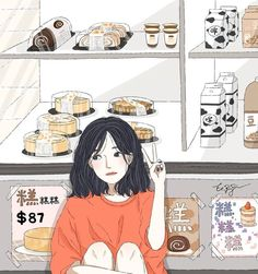 Cute Art Styles, Cartoon Art Styles, Art Anime, Anime Art Girl, Aesthetic Art, Aesthetic Anime, Walpapers Cute, Desenhos Love, Wow Art