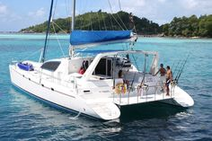 Leopard catamarans Leopard 47 Catamaran Yacht Rental with Web's Favorite Charter Sailboat Charter, Catamaran Charter, Sailing Catamaran, Yacht Boat, Catamaran Design, Holiday Places, River House, Speed Boats, Jet Ski