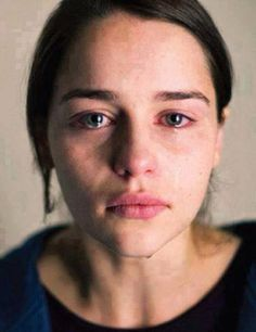 girl, emilia clarke, and cry image