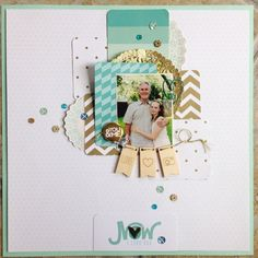 #papercraft #Scrapbook #layout.  You and me by Leah at @studio_calico