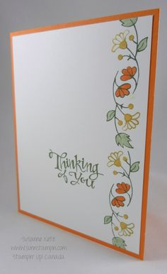 Stampin' Up! Bordering Blooms