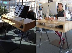 TV Cabinet + Galant Legs (Ikea Hack) | 10 Do-It-Yourself Standing Desks