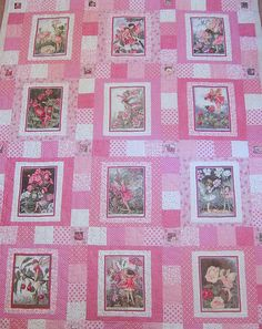 Pink Fairy Quilt for Breastcancer Awareness Pink Quilts, Cute Quilts, Baby Girl Quilts, Girls Quilts, Children's Quilts, Embroidered Quilts, Applique Quilts, Paisley Quilt, Flower Quilts