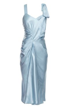 Gathered and Draped Satin Dress by Nina Ricci Now Available on Moda Operandi