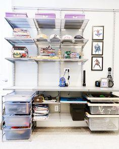 36 Likes, 1 Comments - Amy Elfa Shelving, Garage Shelving, Shelving Solutions, Concierge, Room Organization, Mudroom, Teenagers, Houston, Amy