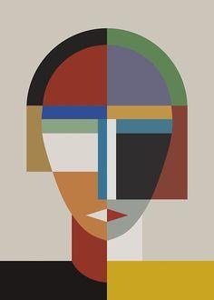 Women And Woman Canvas Art Print by The Usual Designers Abstract Portrait, Portrait Art, Pop Art, Abstract Geometric Art, Geometric Designs, Geometric Shapes, Cubism Art, Poster Prints, Art Prints
