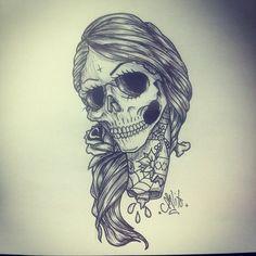Girl skull tryout number 3. #tattoo #illustration #skull #iamcarlito #quebeccity #nikelaos (Taken with Instagram)