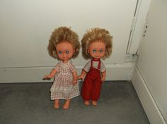 """UNUSUAL VINTAGE KEWPIE DOLLS made in ITALY FIBA HB 11"""" DRESSED! TWINS?   eBay Kewpie, Vintage Dolls, Twins, Italy, How To Make, Clothes, Dresses, Fashion, Outfits"""