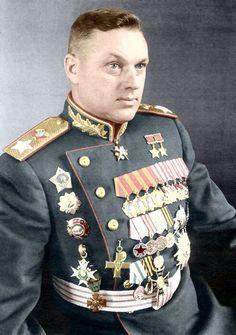 A Marshal of the Soviet Union, a Marshal of Poland Konstantin Rokossovsky